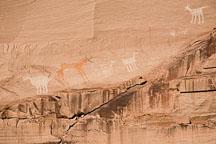 Rock art at Antelope House Ruin. Canyon de Chelly NM, Arizona. - Photo #18135