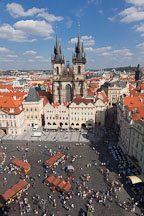 Tyn Church and old town square. Prague, Czech Republic. - Photo #30235
