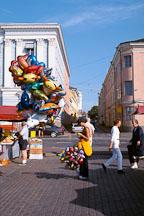 Balloon girl. Kauppatori, Helsinki, Finland - Photo #436