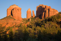 Cathedral Rock in the warm light of sunset. Sedona, Arizona. - Photo #17636