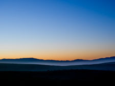 Morning mist and hills at Point Reyes. Point Reyes National Seashore, California. - Photo #25536