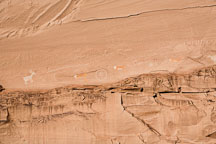 Pictographs at Antelope House Ruins. Canyon de Chelly NM, Arizona. - Photo #18136