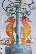 Seahorses at Santa Monica Pier. Santa Monica, California, USA. - Photo #3336
