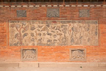 Close-up of the Jagyeongjeon chimney wall with the 10 signs of longevity. Gyeongbokgung Palace, Seoul. - Photo #21037