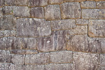 Incan wall. Machu Picchu, Peru. - Photo #10037