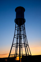 Silhouette of Marston Water Tower. Iowa State University, Iowa. - Photo #32437