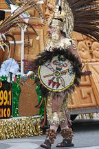 Aztec warrior at the San Jose Holiday Parade. San Jose, California, USA. - Photo #5138