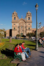 Plaza de Armas and La Compania de Jesus church. Cusco, Peru. - Photo #9238