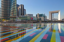 Agam bassin at La Defense. Paris, France. - Photo #31939
