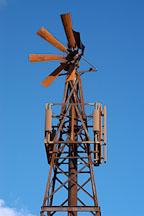 Damaged windmill. Goldfield, Phoenix, Arizona, USA. - Photo #5539
