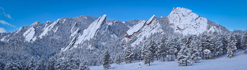 Flatirons and Chautauqua Park. Boulder, Colorado. - Photo #33139