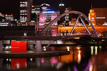 Footbridge across the Yarra river. Melbourne, Australia. - Photo #1539
