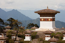 The main chorten of Druk Wangyal Chorten. Dochu La, Bhutan. - Photo #23139