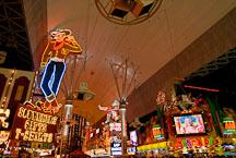 Cowboy sign on Fremont Street. Las Vegas, Nevada, USA. - Photo #13739