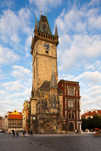 Old town hall tower at sunrise. Prague, Czech Republic. - Photo #30139