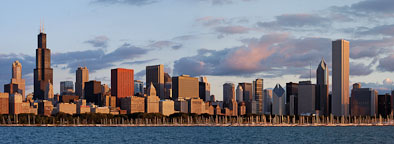 Panoramic view of the Chicago skyline. Chicago, Illinois, USA - Photo #10639
