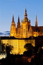 Saint Vitus Cathedral at dusk. Prague, Czech Republic. - Photo #29739