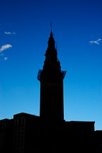 Silhouette of the Terminal tower. Cleveland, Ohio, USA - Photo #4239