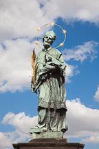 Statue of John of Nepomuk on the Charles Bridge. Prague, Czech Republic. - Photo #30039