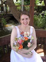 Kara Sjoblom with flower bookquet. - Photo #2167