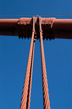 Support cables. Golden Gate Bridge, San Francisco, California. - Photo #2728
