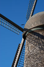 Close-up of the Dutch Windmill. Golden Gate Park, San Francisco, California, USA. - Photo #2680