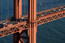 Close up view of Golden Gate Bridge's North tower. San Francisco, California. - Photo #2762