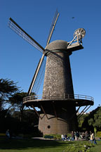 Dutch Windmill in Golden Gate Park. San Francisco, California, USA. - Photo #2679