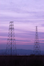 Electricity towers. Palo Alto Baylands Nature Preserve, California. - Photo #2444