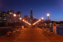 Transamerica pyramid and Pier 7. San Francisco, California. - Photo #2041