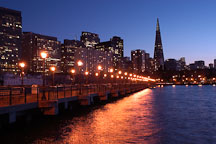 San Francisco skyline from Pier 7. San Francisco, California. - Photo #2038