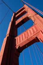South tower. Golden Gate Bridge, San Francisco, California. - Photo #2737