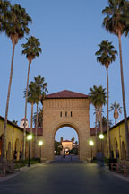 Entrance to the Quad. Stanford, California. - Photo #2283