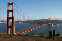 Visitors enjoying the view of the Golden Gate Bridge, San Francisco, California. - Photo #2776