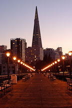 Transamerica pyramid and Pier 7. San Francisco, California. - Photo #2034