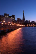 Transamerica pyramid and Pier 7. San Francisco, California. - Photo #2037