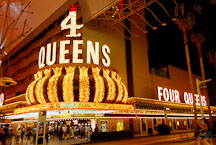 The Four Queens Hotel and Casino. Fremont Street, Las Vegas, Nevada, USA. - Photo #13704