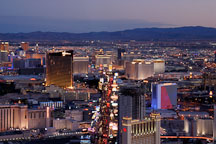 Aerial view of Las Vegas Boulevard. Las Vegas, Nevada, USA. - Photo #13604