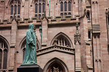 Statue of John Watts at Trinity Church. New York City. - Photo #25404