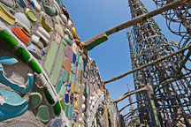 Walls and towers. Watts Towers. Watts, Los Angeles, California, USA. - Photo #6840