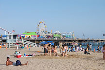 Santa Monica beach, California, USA. - Photo #7040