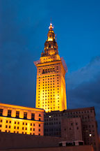 Terminal tower at night. Cleveland, Ohio, USA - Photo #4240