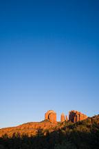 Sunset on Cathedral Rock. Sedona, Arizona. - Photo #17641