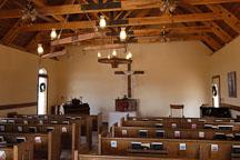 Interior of the Goldfield Chapel. Goldfield, Phoenix, Arizona, USA. - Photo #5541