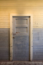 Old door in the detention barracks. Angel Island, California. - Photo #22041
