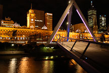 Yarra river footbridge. Melbourne, Australia. - Photo #1541