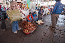 Selling produce in the central market. Cusco, Peru. - Photo #9442