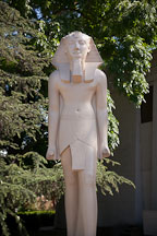 Statue of Thutmosis III. Rosicrucian Park, San Jose, California. - Photo #21942