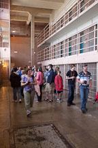 Tourists walking throught the cell blocks. Alcatraz prison, California. - Photo #22142