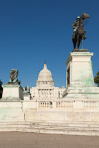 Statue of Ulysses S Grant and the US Capitol. Washington, D.C. - Photo #29242